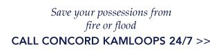 Save your possessions from fire or flood, Call Concord 24/7