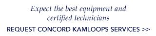 Expect the best equipment and certified technicians Request Concord services